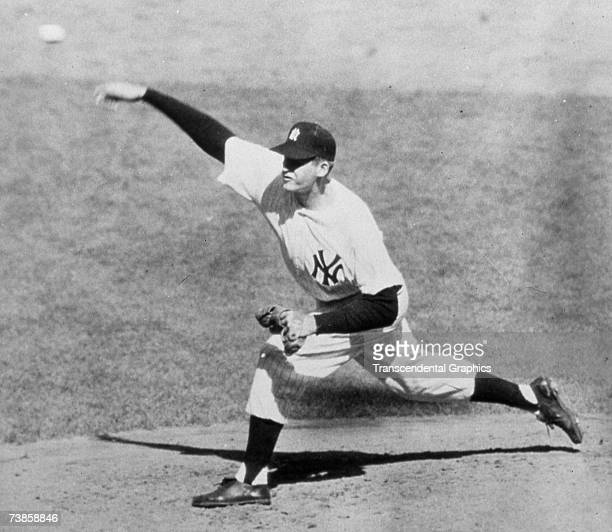 NEW YORK OCTOBER 8 1956 Don Larsen works in the fourth inning of his World Series perfect game on October 8 1956