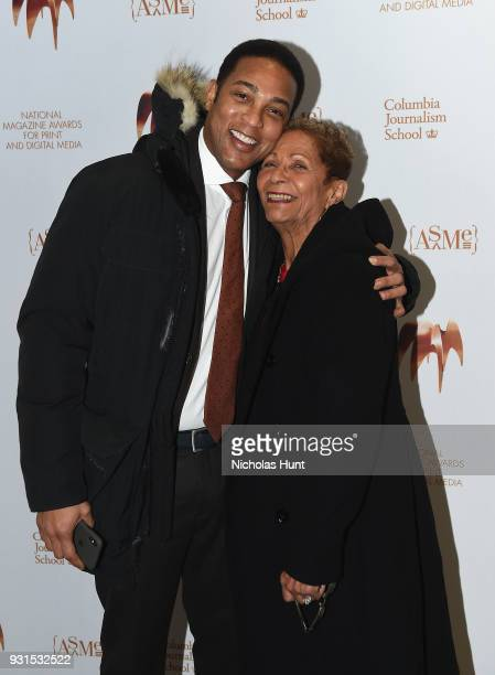 Don Lemon and his mother Katherine Clark attend the Ellie Awards 2018 on March 13 2018 in New York City
