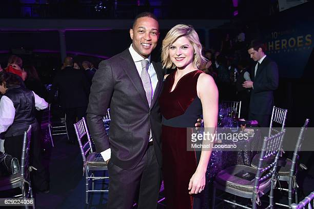 Don Lemon and Kate Bolduan pose during the CNN Heroes Gala 2016 at the American Museum of Natural History on December 11 2016 in New York City...