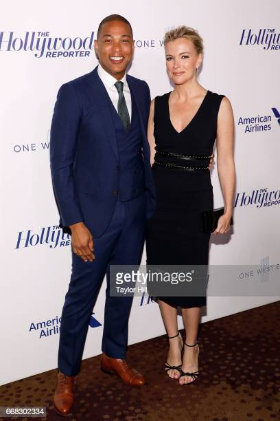 Don Lemon and Megyn Kelly attend 'The Hollywood Reporter's 35 Most Powerful People In Media 2017' at The Pool on April 13 2017 in New York City