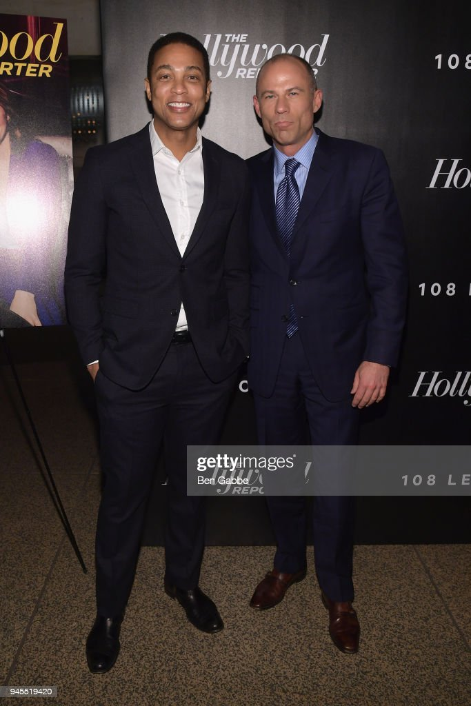 Don Lemon and Michael Avenatti attend The Hollywood Reporter's Most Powerful People In Media 2018 at The Pool on April 12, 2018 in New York City.