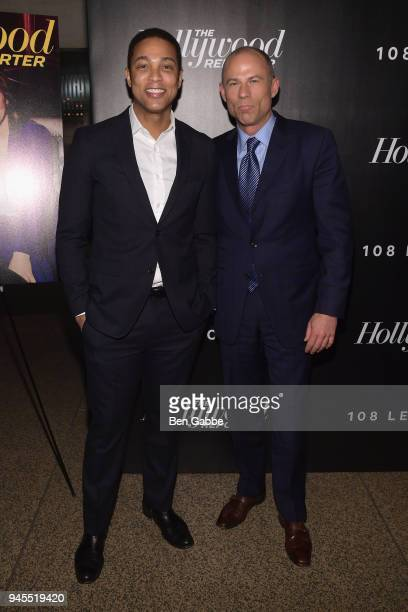 Don Lemon and Michael Avenatti attend The Hollywood Reporter's Most Powerful People In Media 2018 at The Pool on April 12 2018 in New York City