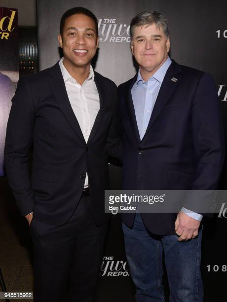 Don Lemon and Sean Hannity attend The Hollywood Reporter's Most Powerful People In Media 2018 at The Pool on April 12 2018 in New York City