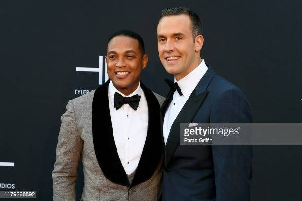 Don Lemon and Tim Malone attend Tyler Perry Studios grand opening gala at Tyler Perry Studios on October 05 2019 in Atlanta Georgia