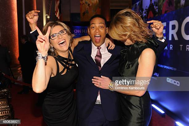 Don Lemon Ashleigh Banfield and Christine Romans attend 2013 CNN Heroes An All Star Tribute at the American Museum of Natural History on November 19...