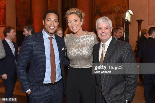 Don Lemon, Brooke Baldwin, and President of Turner David Levy attend CNN Heroes 2017 at the American Museum of Natural History on December 17, 2017...