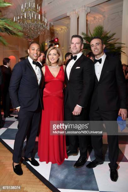 Don Lemon Chris Jansing Thomas Roberts and Patrick Abner attend the White House Correspondents Dinner MSNBC After Party at Organization of American...