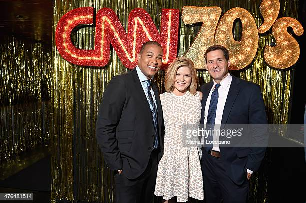 Don Lemon Kate Bolduan and John Berman attend the CNN The Seventies Launch Party at Marquee on June 9 2015 in New York City 25520_230JPG
