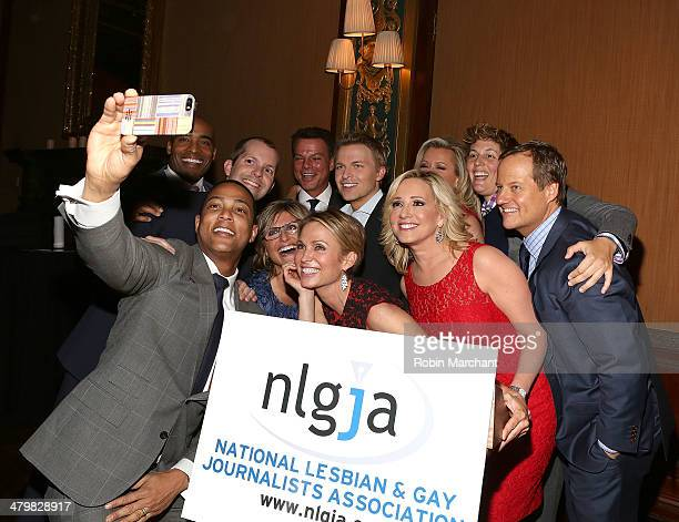 Don Lemon, Tiki Barber, Ronan Farrow, Ashleigh Banfield, Amy Robach, Jamie Colby, Rick Reichmuth and Shepard Smith attend the 19th Annual National...