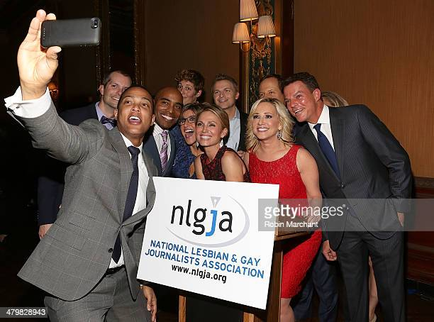 Don Lemon Tiki Barber Ronan Farrow Ashleigh Banfield Amy Robach Jamie Colby Rick Reichmuth and Shepard Smith attend the 19th Annual National Lesbian...