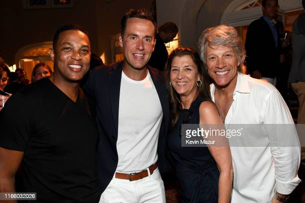 Don Lemon Timothy Malone Dorothea Bon Jovi and Jon Bon Jovi attend Apollo in the Hamptons 2019 Hosted by Ronald O Perelman at The Creeks on August 03...