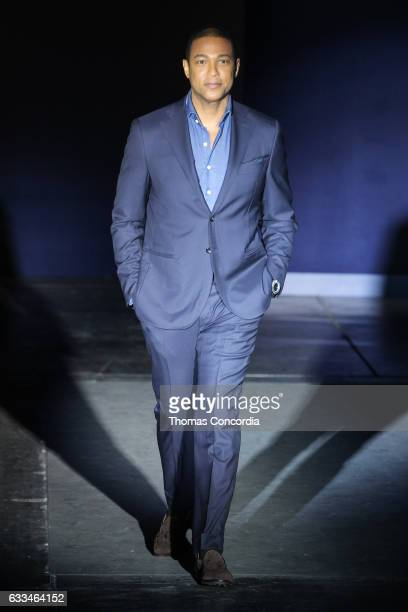Don Lemon walks the runway during The Blue Jacket Fashion Show at NYFW Men's at Pier 59 on February 1 2017 in New York City