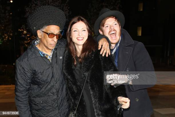 Don Letts and Sophie EllisBextor at the launch night of Soho House Television Centre on April 11 2018 in London England