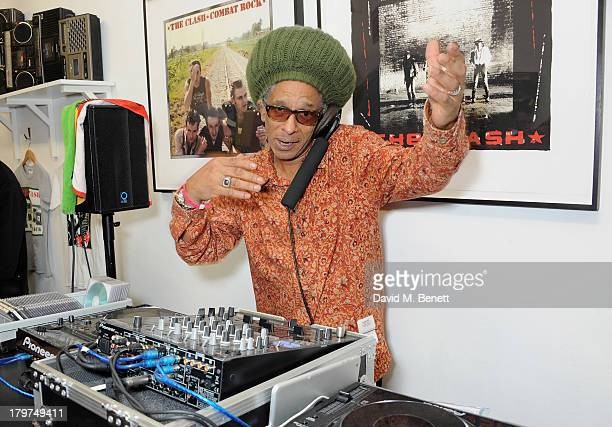 Don Letts attends the launch of 'Black Market Clash' an exhibition of personal memorabilia and items curated by original members of The Clash at 75...