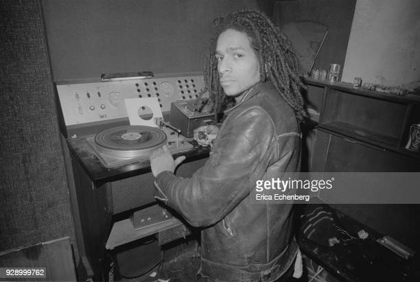 Don Letts DJing at punk club The Roxy, Covent Garden, London, 1977.