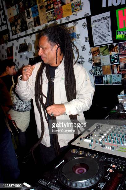 Don Letts DJs at Selfridges, London, 10th March 2006.