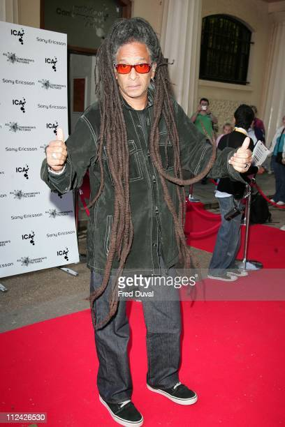 """Don Letts during """"All Tomorrow's Pictures"""" Charity Auction and Launch Party - Outside Arrivals at Institute of Contemporary Arts in London, Great..."""