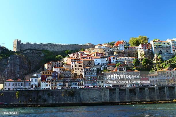 Don Luís I bridge and Muralha Fernandina in Porto