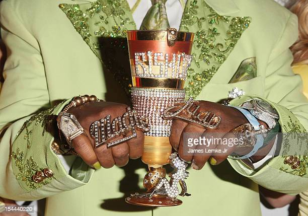 Don Magic Juan attends Snoop Dogg Presents Colt 45 Works Every Time mansion party with Evan and Daren Metropoulos at The Playboy Mansion on October...