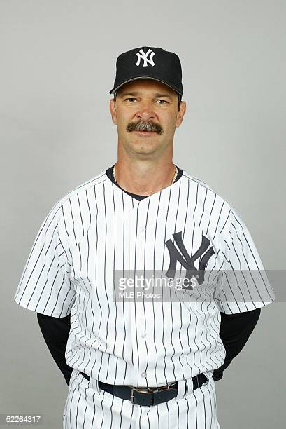 Don Mattingly of the New York Yankees poses for a portrait during photo day at Legends Field on February 25 2005 in Tampa Florida