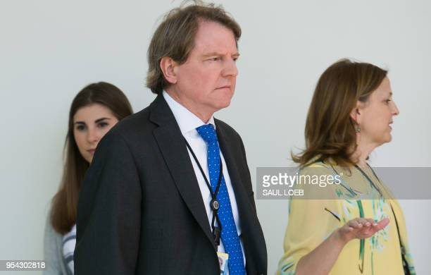 Don McGahn White House Counsel attends the National Day of Prayer ceremony hosted by US President Donald Trump in the Rose Garden of the White House...