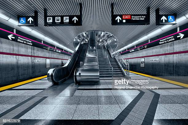 don mills subway station - underground sign stock pictures, royalty-free photos & images