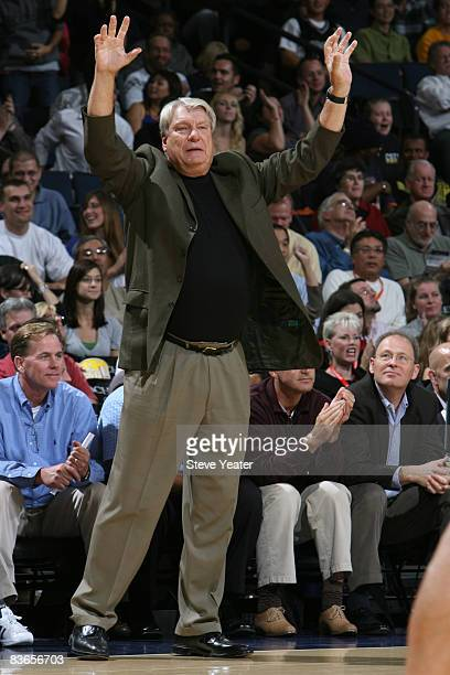 Don Nelson of the Golden State Warriors reacts in over time against the Minnesota Timberwolves on November 11 2008 at Oracle Arena in Oakland...