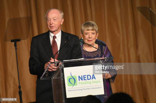 Don Nielsen and Melissa Nielsen speak onstage during the National Eating Disorders Association Annual Gala 2018 at The Pierre Hotel on May 16 2018 in...