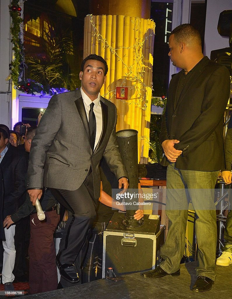 Don Omar performs at the Johnnie Walker My Label is Black - at Bongos on December 13, 2012 in Miami, Florida.