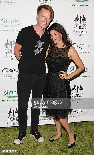 Don O'Neill and Laura Gomez attends the Simple Skincare Caravan Stylist Studio Fashion Week Event on September 7 2014 in New York City