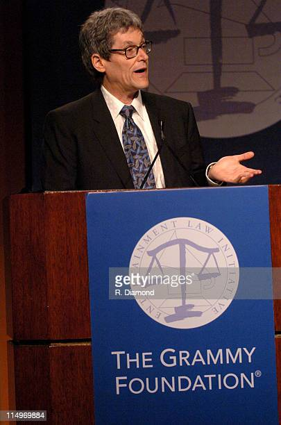 Don Passman ELI Chairman during GRAMMY Entertainment Law Initiative February 11 2005 at Regent Beverly Wilshire Hotel in Beverly Hills CA United...
