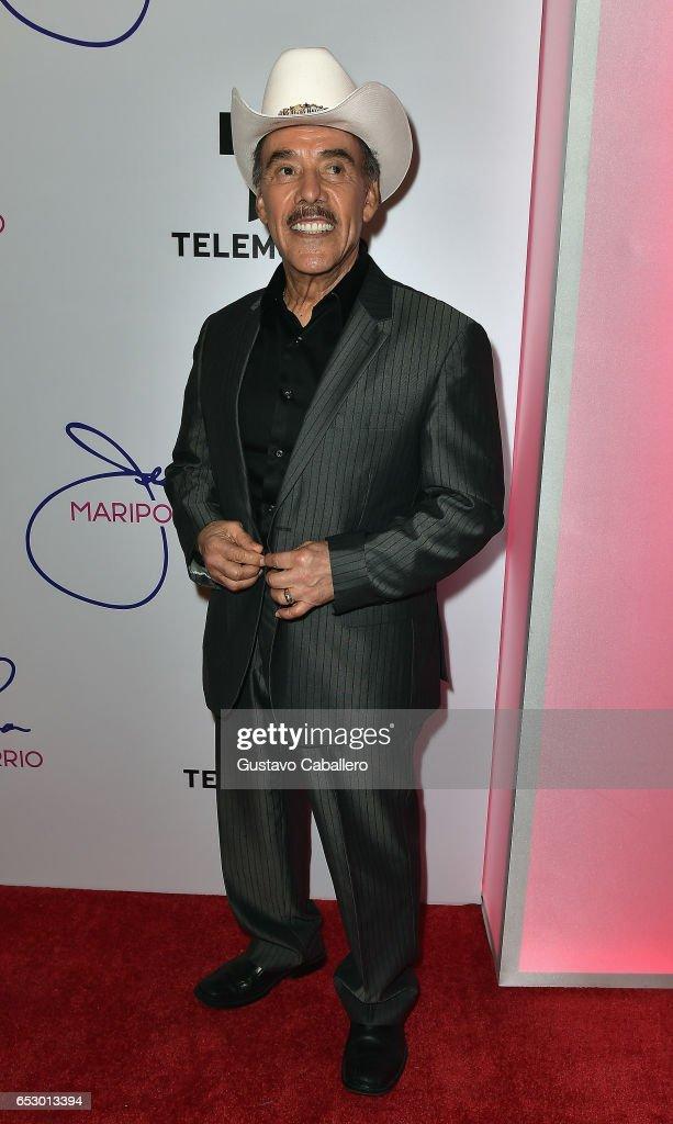Don Pedro Rivera is seen at the introduction of the cast of 'Jenni Rivera: Mariposa de Barrio' at Telemundo Studios on March 13, 2017 in Miami, Florida.