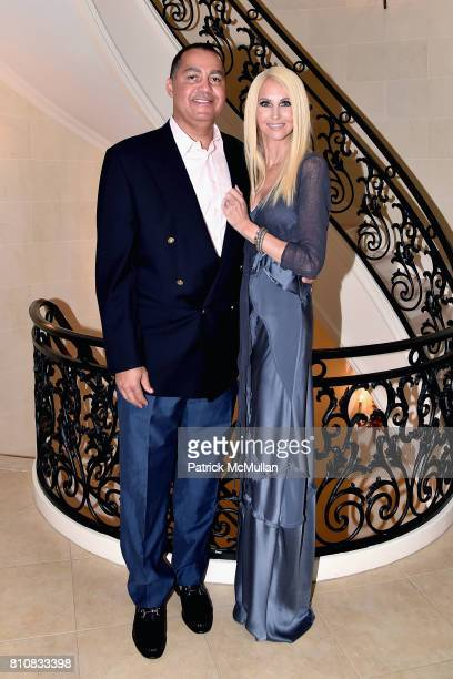 Don Peebles and Katrina Peebles attend Katrina and Don Peebles Host NY Mission Society Summer Cocktails at Private Residence on July 7 2017 in...