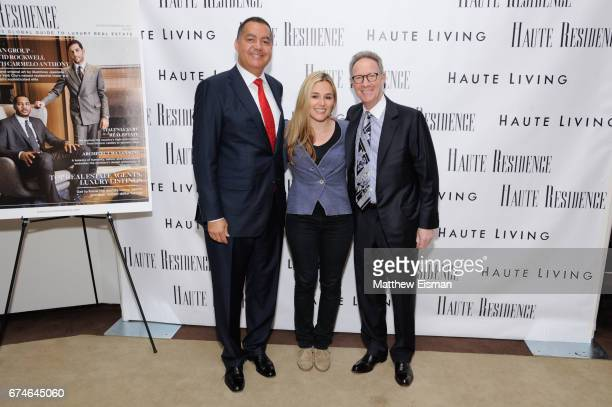 Don Peebles Jenny Lenz and Ian Bruce Eichner attend the Haute Residence 2017 Luxury Real Estate Summit at The Core Club on April 28 2017 in New York...