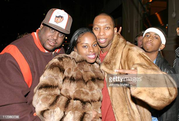 Don Pooh Foxy Brown and Gavin during JayZ's The Black Album Concert After Party at 40/40 in New York City New York United States
