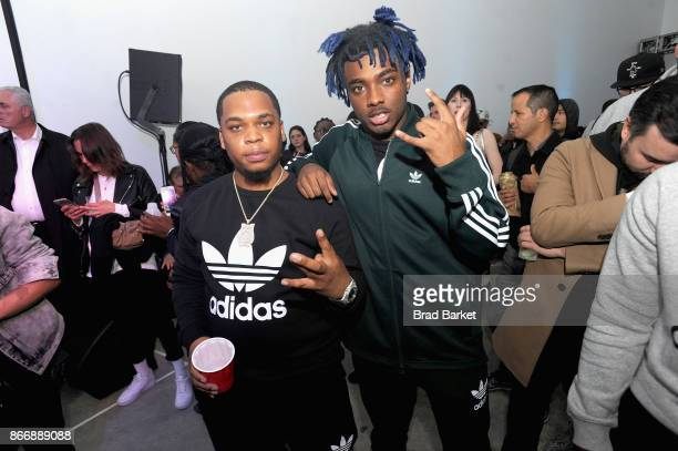Don Q and Lougotcash attend the Launch Of Pusha T's Latest Collaboration With adidas Originals KING PUSH X ADIDAS ORIGINALS EQT 'BODEGA BABIES' on...