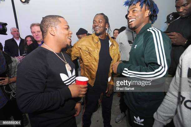 Don Q Pusha T and Lougotcash attend the Launch Of Pusha T's Latest Collaboration With adidas Originals KING PUSH X ADIDAS ORIGINALS EQT 'BODEGA...