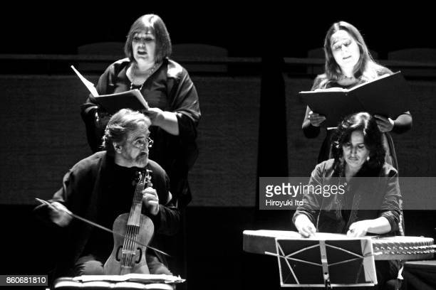 Don Quijote de la Mancha Romances y Musicas at Rose Theater on Monday night October 20 2008 This image Clockwise from bottom left Jordi Savall on...