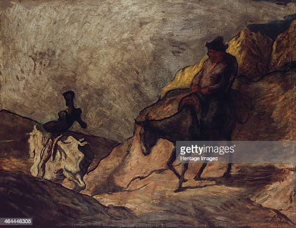 Don Quixote and Sancho Panza 18661867 Found in the collection of the Staatliche Museen Berlin