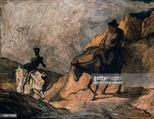 Don Quixote and Sancho Panza by Honore Daumier Berlin Alte Nationalgalerie