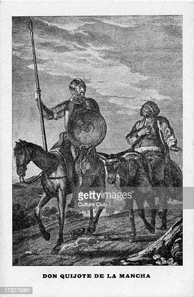 Don Quixote and Sancho Panza Don Quixote by Miguel de Cervantes Spanish novelist poet and playwright 29 September 1547 – 23 April 1616 Caption reads...
