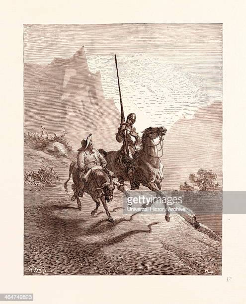 Don Quixote And Sancho Setting Out By Gustave Dore 1832 1883 French Engraving For Don Quixote By Miguel De Cervantes 1870 Art Artist Romanticism...
