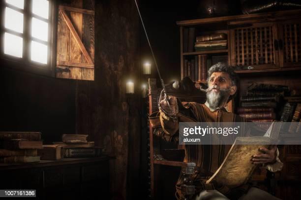 Perder su mente leyendo libros de caballerías de Don Quijote