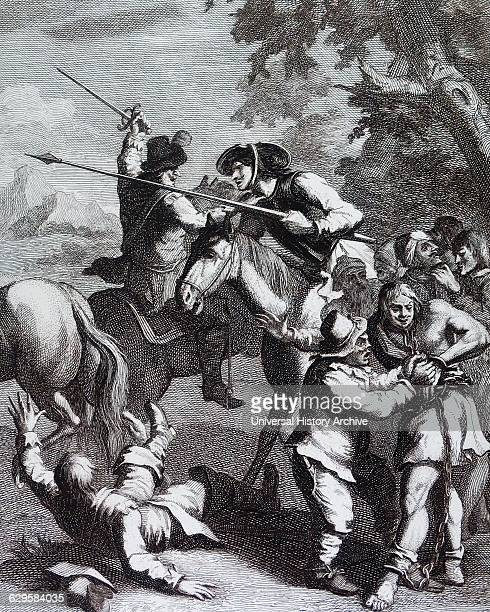 Don Quixote releases the Galleyslaves by William Hogarth English painter printmaker pictorial satiriSaint One of six Illustrations for Don Quixote by...