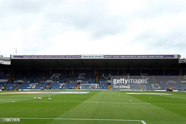 Don Revie Stand Elland Road Stadium during the Sky Bet Championship match between Leeds United and Sheffield Wednesday at Elland Road on August 17...