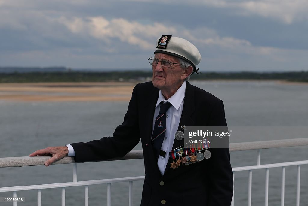 Veterans Return To England After D-Day 70th Anniversary In Normandy : News Photo