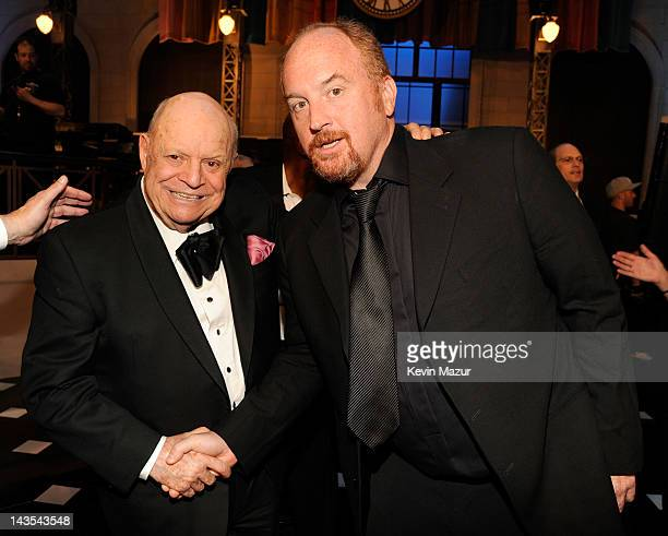 Don Rickles and Louis CK at The Comedy Awards 2012 at Hammerstein Ballroom on April 28 2012 in New York City