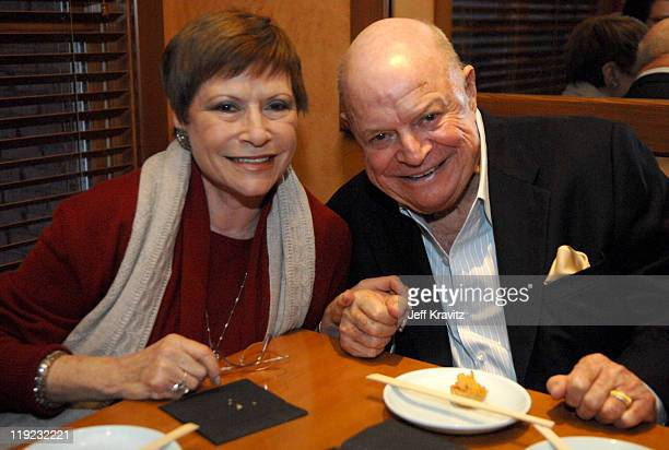 Don Rickles and Wife during HBO's 13th Annual US Comedy Arts Festival The Hollywood Reporter Party at Matsuhisa at Matsuhisa in Aspen Colorado United...