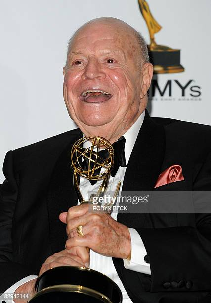 Don Rickles holds his award backstage for outstanding individual performance in a variety or music program for 'Mr Warmth The Don Rickles Project' in...