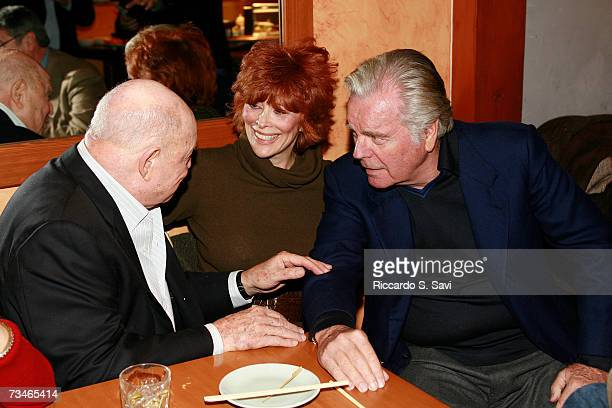 Don Rickles Jill St John and Richard Wagner attend the Hollywood Reporter reception saluting Don Rickles and John Landis on March 1 2007 at Matsuhisa...